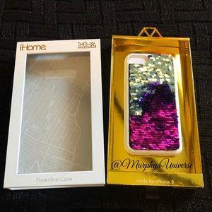 Mermaid Ombré Sequin iPhone 8 case Pink Teal Blue